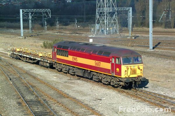 Picture of Class 56 56117 enters Tyne Yard - Free Pictures - FreeFoto.com