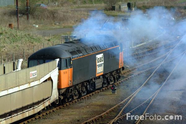 Picture of Class 56 leaves Tees Yard - Free Pictures - FreeFoto.com
