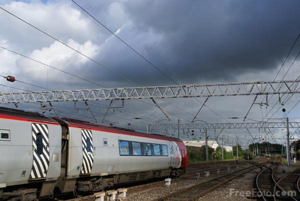 Picture of Virgin Voyager and dark clouds - Free Pictures - FreeFoto.com
