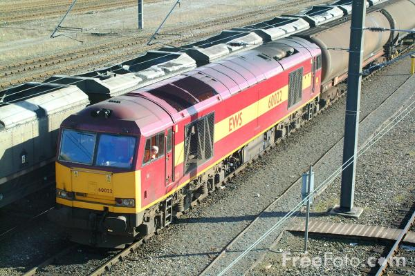 Picture of Class 60 022 at Tyne Yard on the 6D43 Jarrow - Lindsey oil tanker - Free Pictures - FreeFoto.com