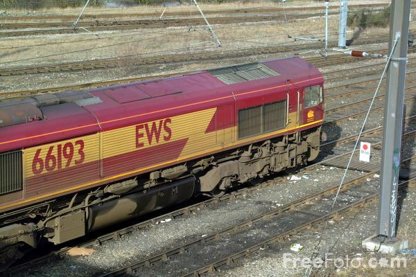 Picture of EWS Class 66 193 at Tyne Yard - Free Pictures - FreeFoto.com