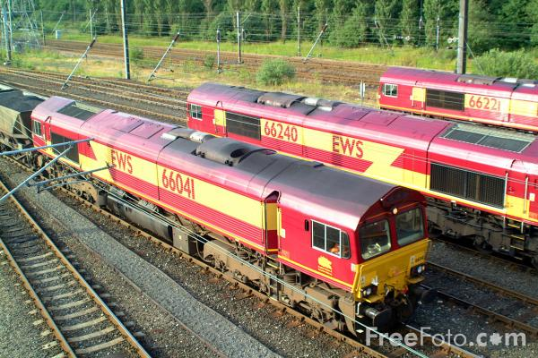 Picture of EWS Class 66 041, 66 240 and 66 221 at Tyne Yard - Free Pictures - FreeFoto.com