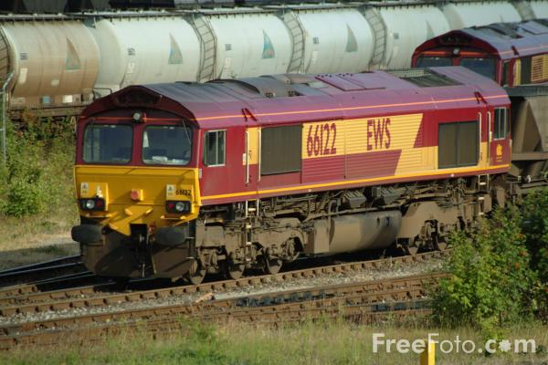 Picture of EWS Class 66 122 at Tyne Yard - Free Pictures - FreeFoto.com