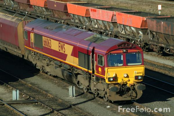 Picture of Class 66063 at Tees Yard - Free Pictures - FreeFoto.com