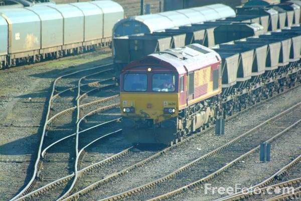 Picture of EWS Class 66 at St Germans - Free Pictures - FreeFoto.com