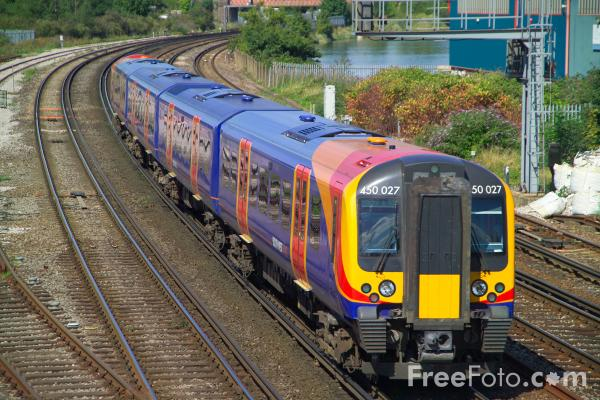 Picture of South West Trains Class 450 - Free Pictures - FreeFoto.com