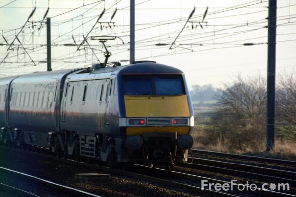 Picture of GNER Class 91 on the ECML near York - Free Pictures - FreeFoto.com