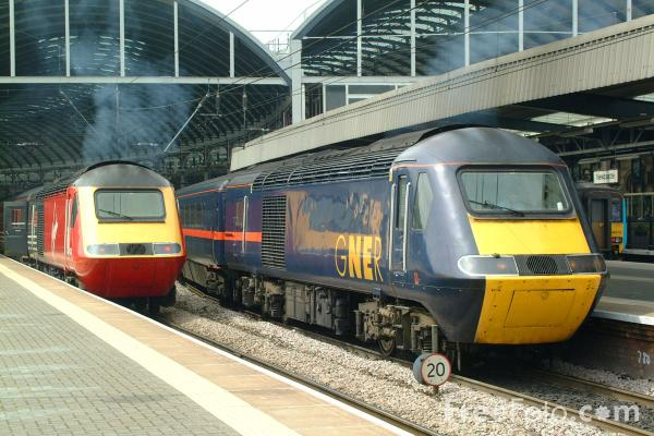 Picture of GNER 125 HST at Newcastle Central station - Free Pictures - FreeFoto.com