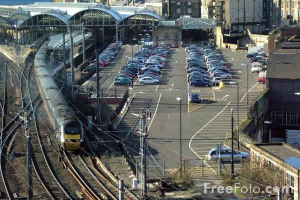 Picture of GNER 125 HST at Newcastle station - Free Pictures - FreeFoto.com