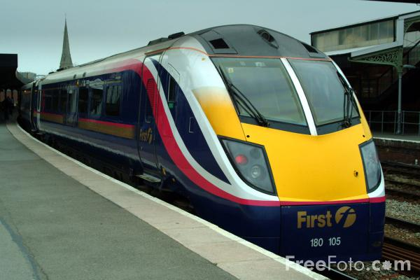 Picture of First Great Western Class 180 Adelante train, Gloucester - Free Pictures - FreeFoto.com