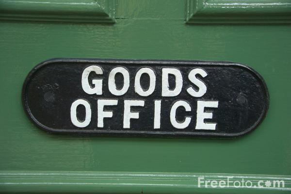 Picture of Goods Office Sign - Free Pictures - FreeFoto.com