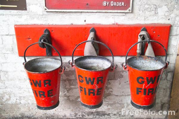 Picture of Fire Buckets - Free Pictures - FreeFoto.com