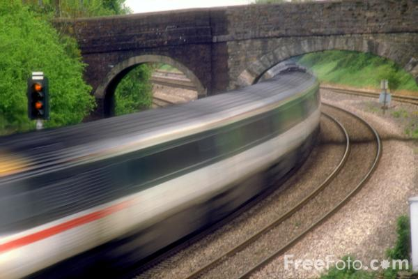 Picture of Train at speed - Free Pictures - FreeFoto.com