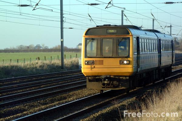 Picture of Arriva Trains Northern Class 142 079 Pacer unit on the ECML near York - Free Pictures - FreeFoto.com