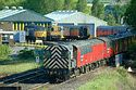 Image Ref: 23-27-2 - Shunting a Mail Train in Tyne Yard, Viewed 11734 times