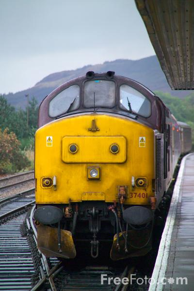 Picture of ScotRail's Caledonian Sleeper, Fort William - Free Pictures - FreeFoto.com