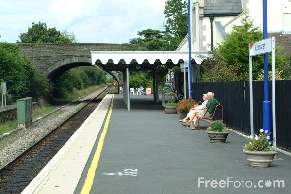 Picture of Axminster Railway Station - Free Pictures - FreeFoto.com
