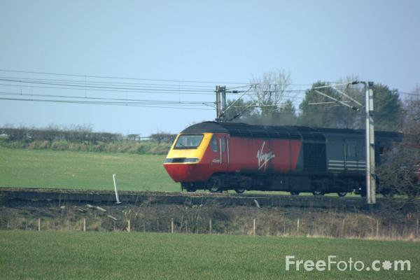 Picture of Virgin Trains High Speed Train south of Chester Le Street - Free Pictures - FreeFoto.com