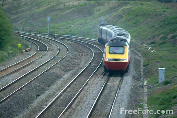 Picture of Virgin Trains High Speed Train south of Gloucester - Free Pictures - FreeFoto.com