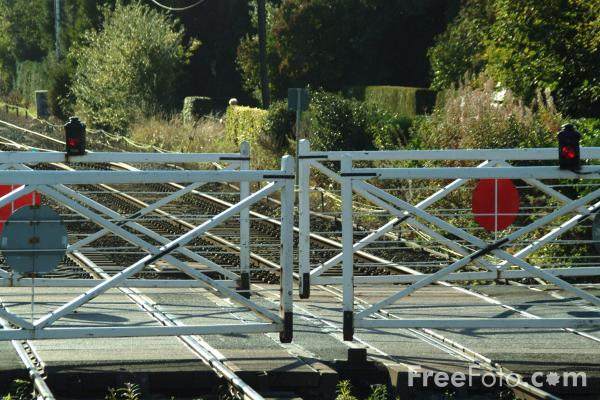 Picture of Level Crossing, Haydon Bridge, Northumberland - Free Pictures - FreeFoto.com