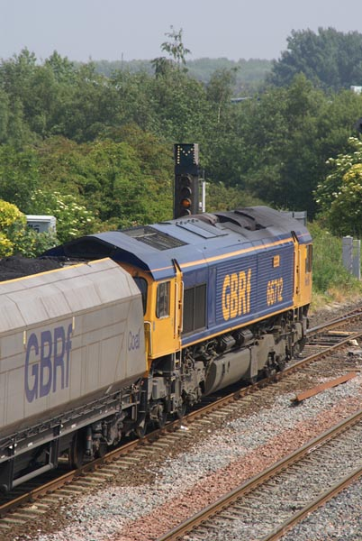 Picture of GB Railfreight GBRf Class 66 hauled coal train - Free Pictures - FreeFoto.com