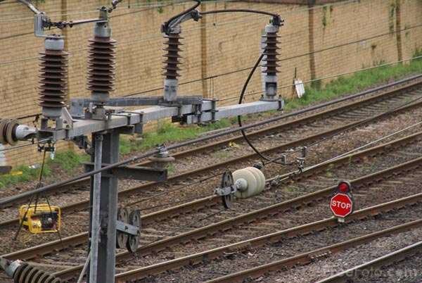Picture of Repairing damaged railway track - Free Pictures - FreeFoto.com