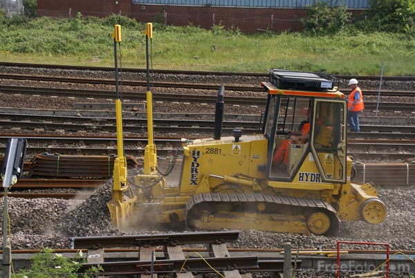 Picture of Track Renewal - Free Pictures - FreeFoto.com