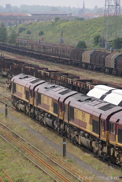 Picture of EWS Class 66 66007 - Free Pictures - FreeFoto.com