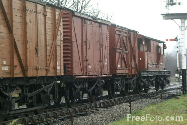 Picture of Goods train at Ramsbottom - Free Pictures - FreeFoto.com