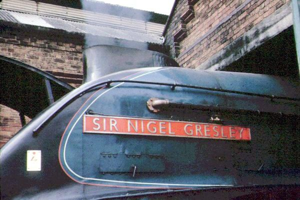 Picture of A4 Sir Nigel Gresley at the NCB Philadelphia Shed, County Durham. - Free Pictures - FreeFoto.com