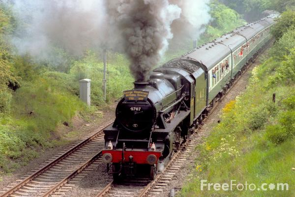 Picture of LMS 5MT Black 5 4787 on a Newcastle - Hexham Special - Free Pictures - FreeFoto.com