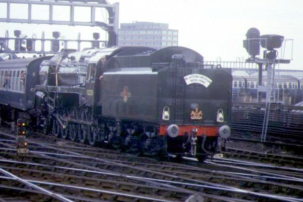 Picture of The Last Steam Locomotive built by British Railways 92220 2-10-0 9F Evening Star at Newcastle station - Free Pictures - FreeFoto.com