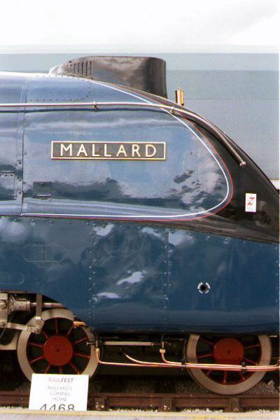 Picture of Gresley A4 4468 Mallard at the Doncaster - Free Pictures - FreeFoto.com