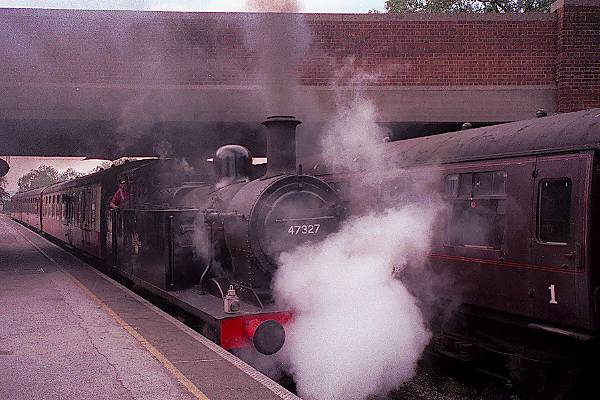 Picture of 1926 built LMS 3F 0-6-0T 47327 leaves Butterley for Riddings - Free Pictures - FreeFoto.com
