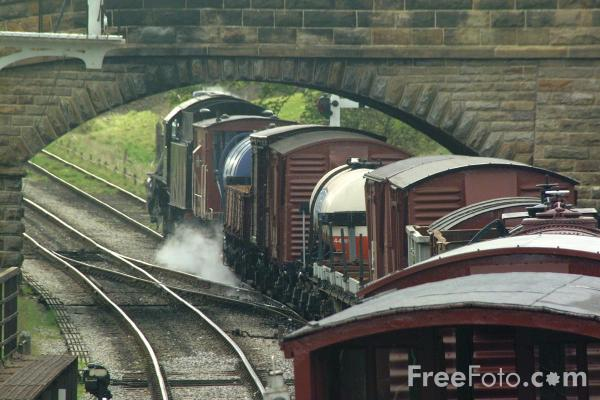 Picture of Freight Train, Goathland - Free Pictures - FreeFoto.com