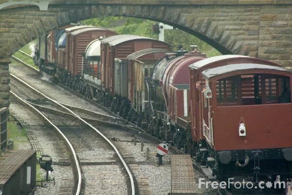 Picture of Goods Train, Goathland - Free Pictures - FreeFoto.com