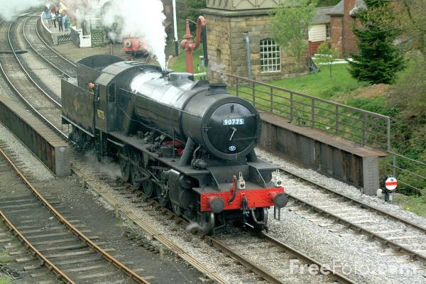 Picture of War Department Austerity 2-10-0 No. 90775 at Goathland - Free Pictures - FreeFoto.com