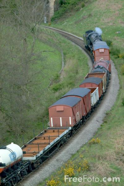Picture of Steam hauled Freight Train near Goathland - Free Pictures - FreeFoto.com