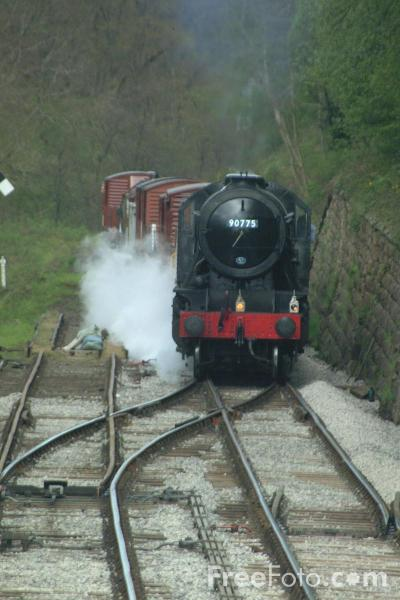 Picture of Steam hauled Goods Train near Goathland - Free Pictures - FreeFoto.com