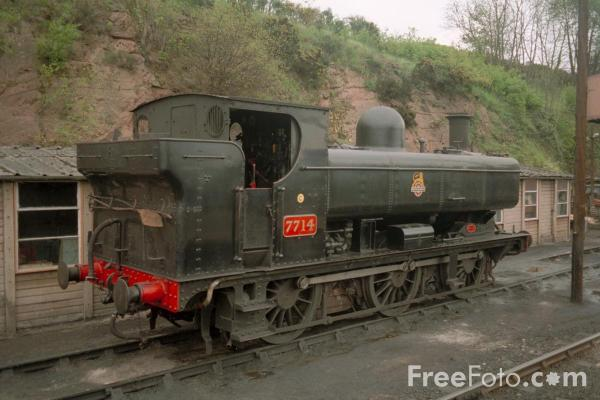 Picture of GWR 5700 0-6-0PT 7714 at Bewdley - Free Pictures - FreeFoto.com