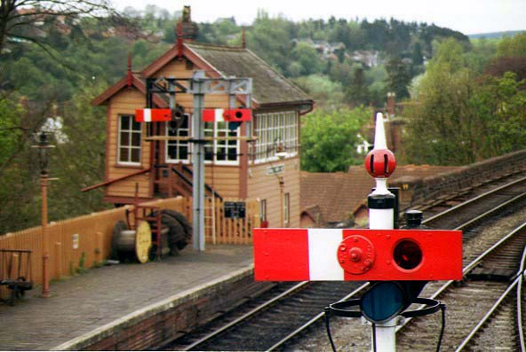 Picture of Bewdley Signalbox - Free Pictures - FreeFoto.com