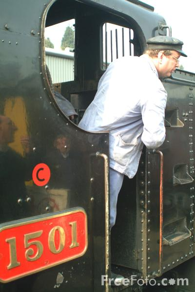 Picture of GWR 0-6-0PT no 1501 at Bridgnorth station - Free Pictures - FreeFoto.com