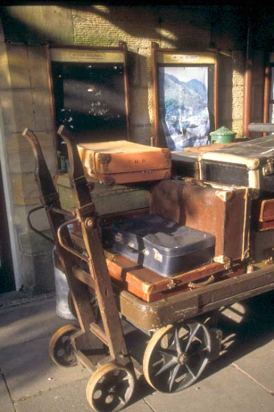 Picture of Luggage, Llangollen Station - Free Pictures - FreeFoto.com