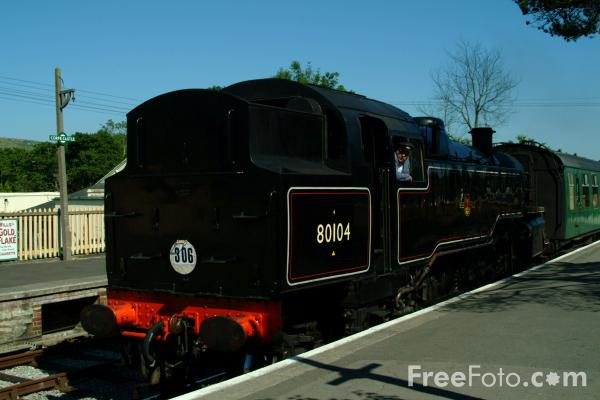 Picture of 80104 2-6-4T at Corfe Castle - Free Pictures - FreeFoto.com
