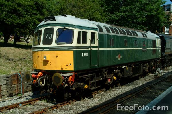 Picture of Class 33 Diesel D6515 at Swanage - Free Pictures - FreeFoto.com