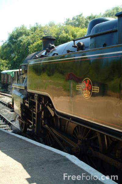 Picture of 80104 2-6-4T at Swanage - Free Pictures - FreeFoto.com
