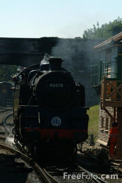 Picture of 80078 2-6-4T at Swanage - Free Pictures - FreeFoto.com