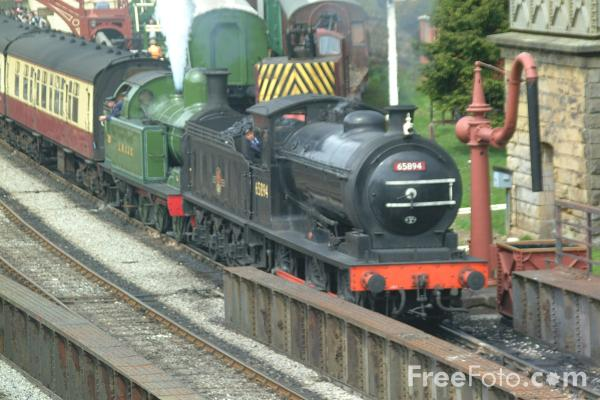 Picture of 65894 NER Class J27 0-6-0 and Lambton Tank No29 at Goathland - Free Pictures - FreeFoto.com