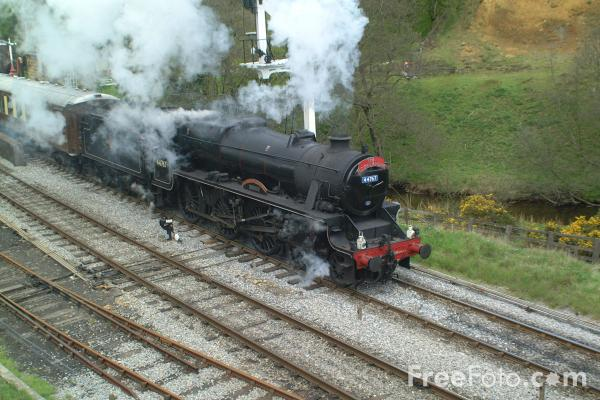 Picture of LMS 5MT 4-6-0 44767 George Stephenson at Goathland - Free Pictures - FreeFoto.com