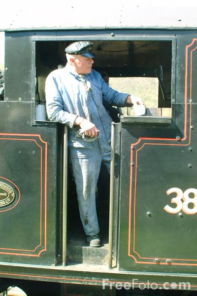 Picture of Steam Engine Driver - Free Pictures - FreeFoto.com